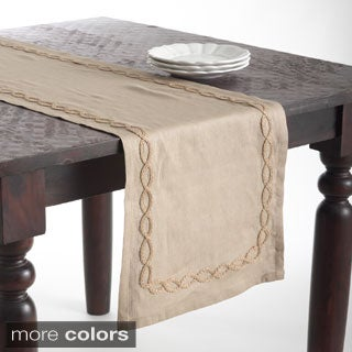 Jute Design Linen Table Runner