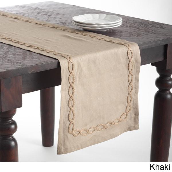 Jute Design Linen Table Runner