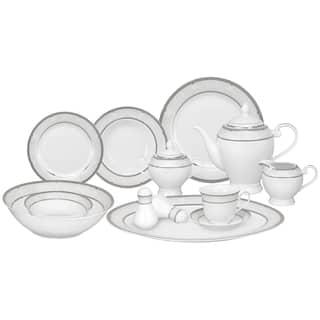 Lorren Home Trends 57-piece Porcelain Dinnerware Set with Silver Accent|https://ak1.ostkcdn.com/images/products/8427916/8427916/Lorren-Home-Trends-57-piece-Porcelain-Dinnerware-Set-with-Silver-Accent-P15725098.jpg?impolicy=medium