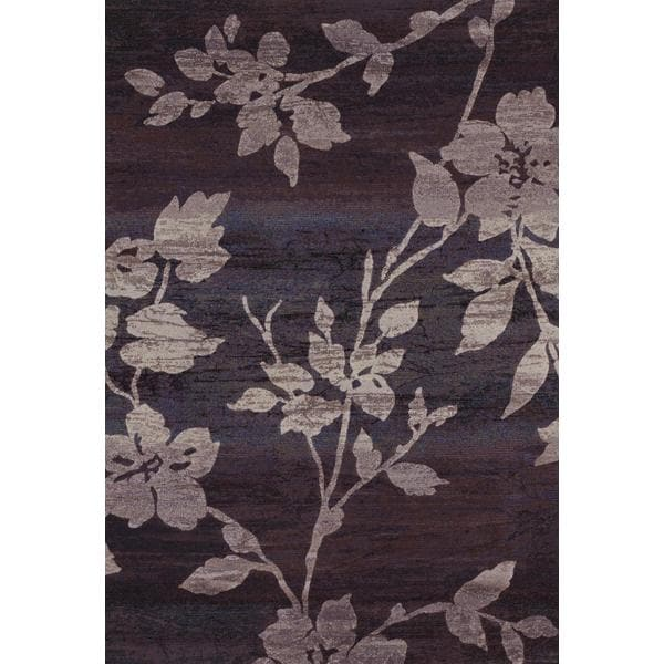 Easton Sakura Vine/ Lavender-Grey Power-loomed Area Rug (7'10 x 11'2)
