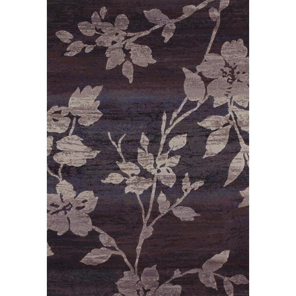 Easton Sakura Vine/ Lavender-Grey Power-loomed Area Rug (3'11 x 5'3)