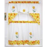 Spring Daisy Tiered Curtain 3-piece Set