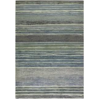 Couristan Easton Vibrato/ Tan-Teal Area Rug - 5'3 x 7'6