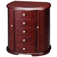 Cherry Wooden 4-drawer Jewelry Box