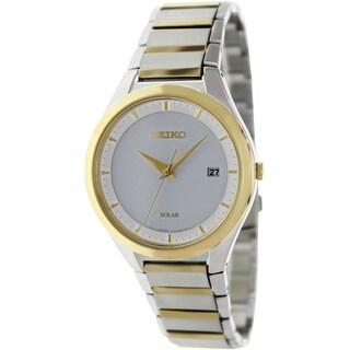 Seiko Men's SNE246 Two-Tone Stainless-Steel Quartz Watch with White Dial