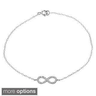 Journee Collection Sterling Silver Cubic Zirconia Infinity Bracelet