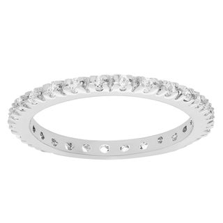 Journee Collection Sterling Silver Colored Cubic Zirconia Eternity Band (More options available)