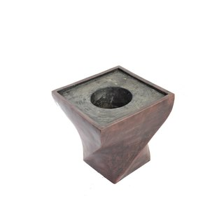 Laura Ashley 17.5-inch Black/ Bronze Fiberstone Planter