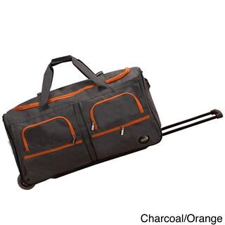 Rockland Mobilizer Lightweight 30-inch Rolling Duffel Bag (Option: Charcoal/Orange)