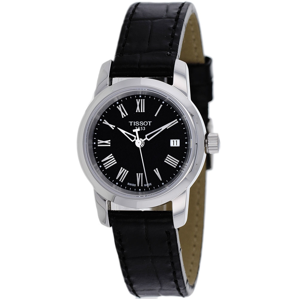 Tissot Women's Dream T033.210.16.053.00 Black Leather Swi...