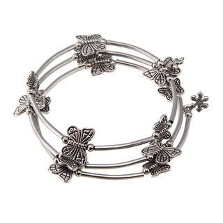Handmade Tibetan Silver Butterfly Bangle Anklet (China)