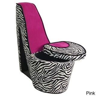 Zebra Print High Heel Chair