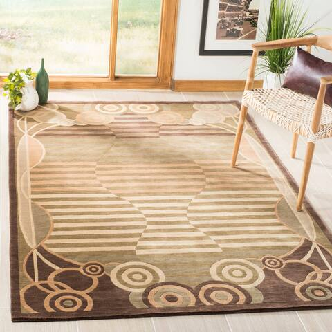 Safavieh Couture Hand-knotted Tibetan Marcolina Modern Wool Rug