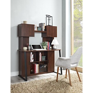 Altra Hanson Cherry Desk with Hutch