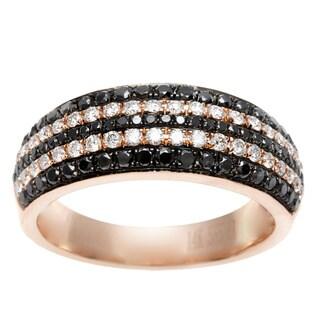 14k Rose Gold 1/2ct TDW Black and White Diamond Ring (I-J, SI1-SI2)