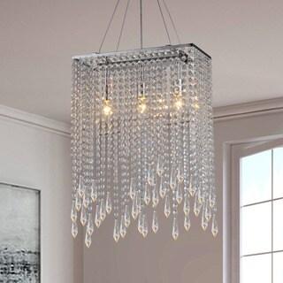 Purcelll Crystal 3-light Chrome Chandelier
