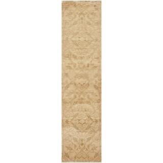 Safavieh Hand-knotted Tibetan Iron Scrolls Ivory Wool/ Silk Rug (2' 6 x 10')