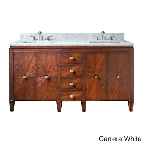 Avanity Brentwood 61-inch Double Vanity in New Walnut with Sink and Top