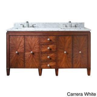 Link to Avanity Brentwood 61-inch Double Vanity in New Walnut with Sink and Top Similar Items in Bathroom Vanities
