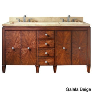 Avanity Brentwood 61-inch Single Vanity in New Walnut with Sink and Top