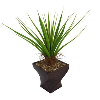 Laura Ashley 54-inch Tall Agave Plant with Cocoa Skin in Fiberstone Planter