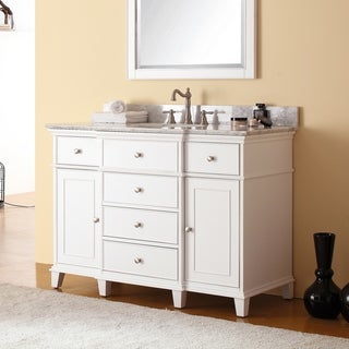 Avanity Windsor 49-inch Single Vanity in White with Top and Sink