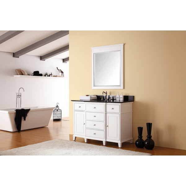 Avanity Windsor Single Vanity in White Finish with Sink and Top