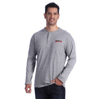 Case IH Men's Grey Embroidered Knit Henley