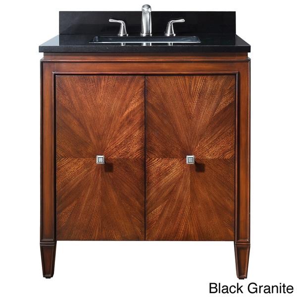 57 Inch Bathroom Vanity Top: Shop Avanity Brentwood 31-inch Single Vanity In New Walnut