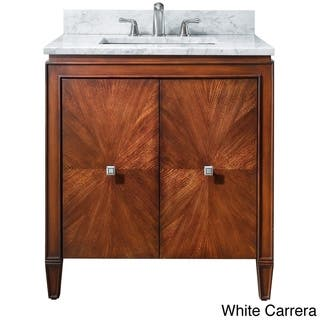 Avanity Brentwood 31-inch Single Vanity in New Walnut with Sink and Top (Option: Beige)|https://ak1.ostkcdn.com/images/products/8428737/Avanity-Brentwood-31-inch-Single-Vanity-in-New-Walnut-with-Sink-and-Top-P15725746.jpg?impolicy=medium