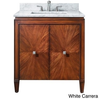 Avanity Brentwood 31-inch Single Vanity in New Walnut with Sink and Top