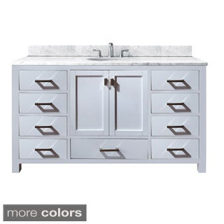 Avanity Modero 60-inch Single Vanity in White Finish with Sink and Top
