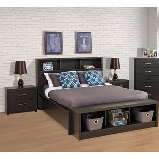 Hudson Washed Black Headboard 2 Options Available