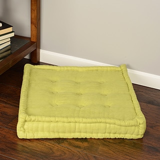 Blazing Needles 25-inch Square Corded Floor Pillow Cushion with Button Tufts