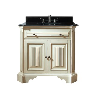Avanity Kingswood 36-inch Single Vanity in Distressed White Finish with Sink and Top
