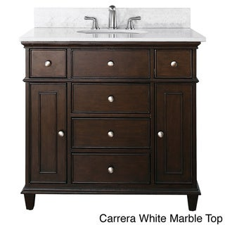 Avanity Windsor 36-inch Single Vanity in Walnut Finish with Sink and Top