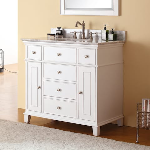 Avanity Windsor 37-inch Single Vanity in White with Top and Sink