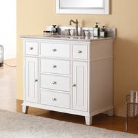 Avanity Windsor 36-inch Single Vanity in White Finish with Sink and Top