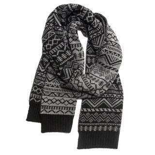 Muk Luks Black Patterned Scarf