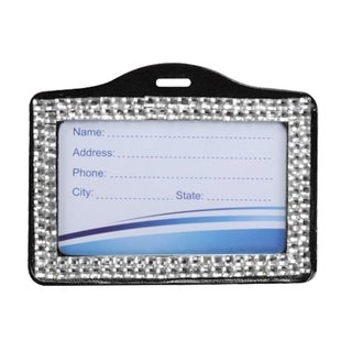 INSTEN Silver Horizontal Business Card Holder Style 002