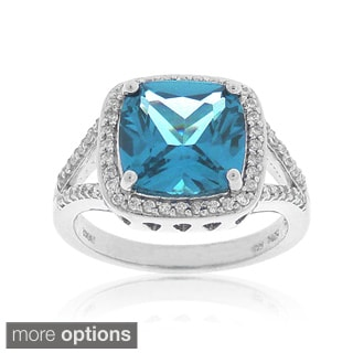Icz Stonez Sterling Silver Cubic Zirconia Square Ring