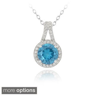 Icz Stonez Sterling Silver Round Cubic Zirconia Necklace
