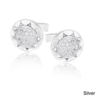 Link to Icz Stonez Rhodium-plated Cubic Zirconia Round Cuff Links Similar Items in Men's Jewelry