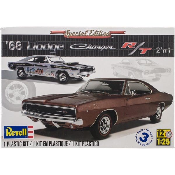 Revell 1968 Dodge Charger 2-in-1 Plastic Model Kit