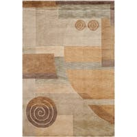 Safavieh Hand-knotted Tibetan Modern Abstract Multicolored Wool Rug - 4' x 6'