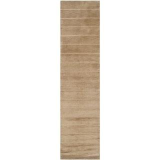 Safavieh Hand-knotted Tibetan Striped Beige Wool/ Silk Rug (2'6 x 10')