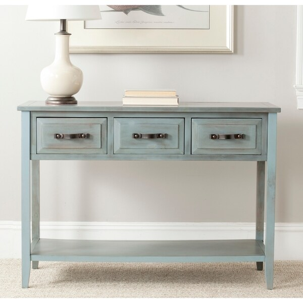Safavieh Aiden Console Distressed Pale Blue/ White Table. Opens flyout.