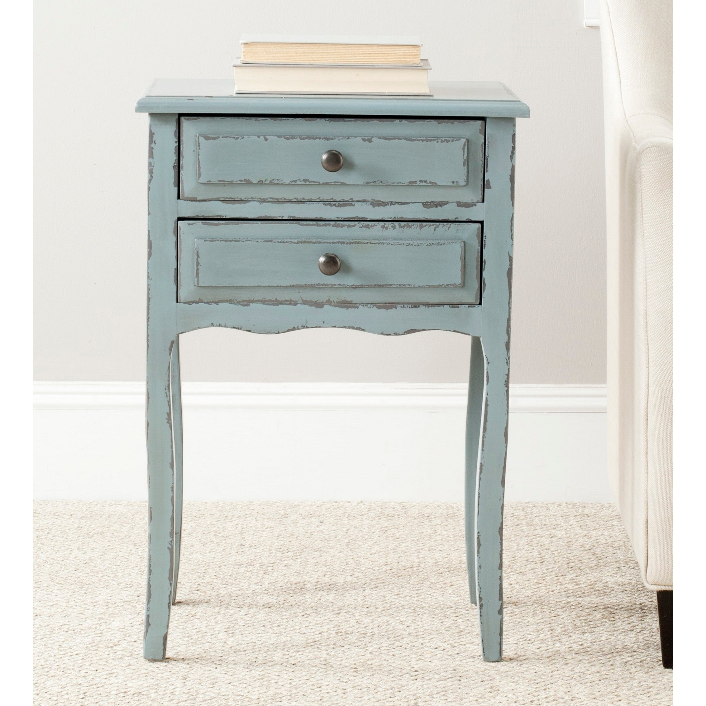 - Shop Safavieh Lori Distressed Pale Blue Accent Table - 18.1