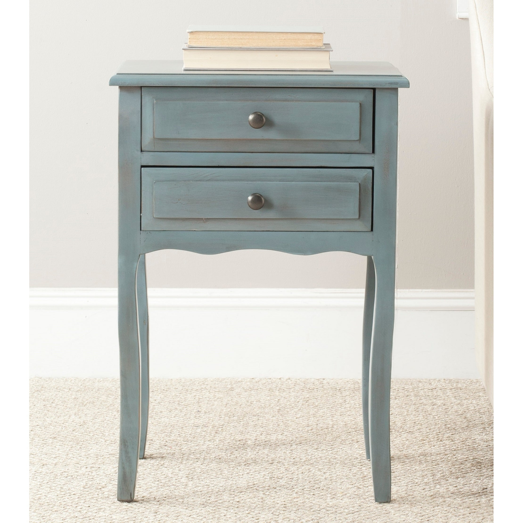 - Shop Safavieh Lori Blue/ Grey Accent Table - 18.1