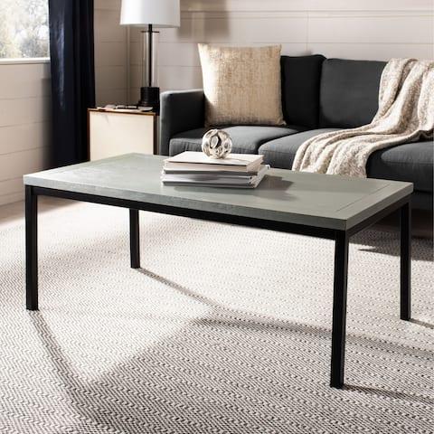 """SAFAVIEH Dennis Ash Grey Coffee Table - 46.7"""" x 22.6"""" x 18.3"""""""